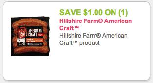 Hillshire Farm American Craft Coupon