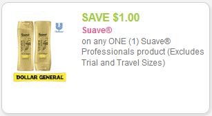 Suave Coupon