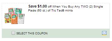 Tic Tac Coupon