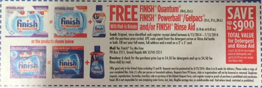 Finish Mail In Rebate