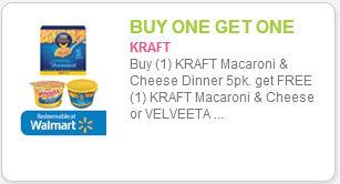 Kraft Mac and Cheese Coupon