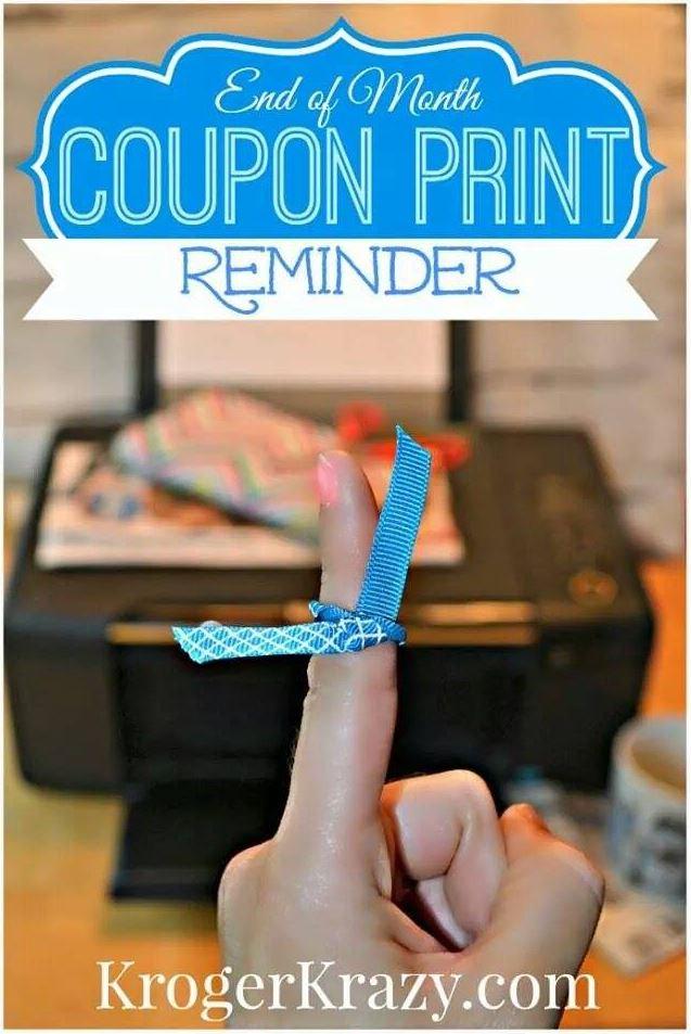 Print Coupon Reminder