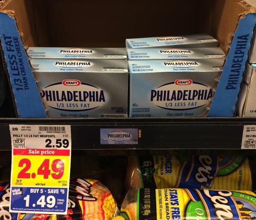 philadelphia cream cheese kroger mega