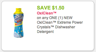 OxiClean Dishwasher Detergent Coupon