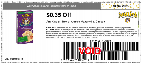 annie's coupon