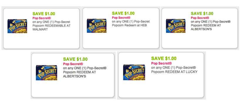 Pop Secret Coupons