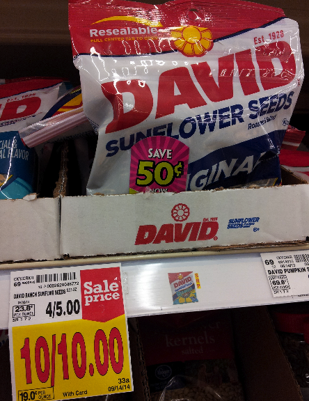 David Sunflower Seeds Kroger