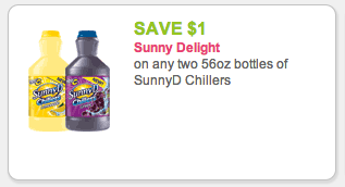 Sunny D Chillers Coupon