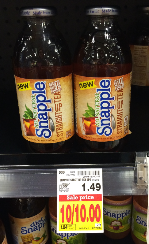 snapple tea kroger
