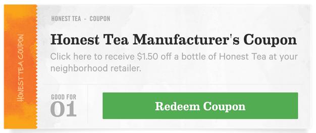 Honest Tea coupon2
