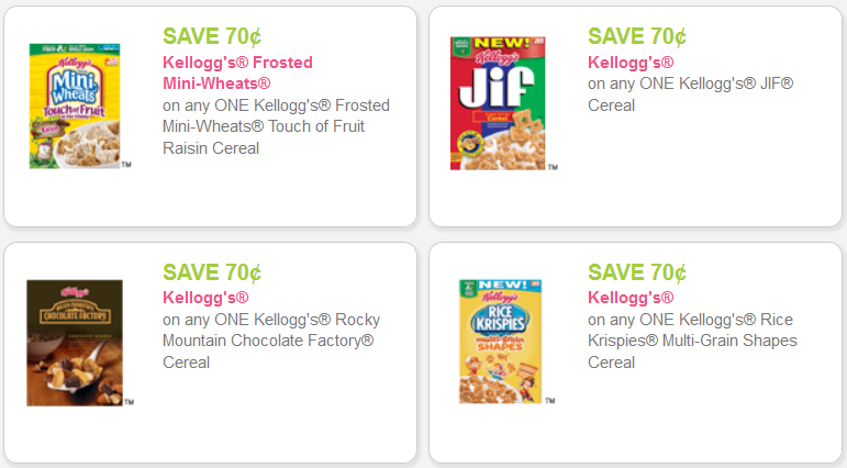 Kellogg's Cereal Coupons
