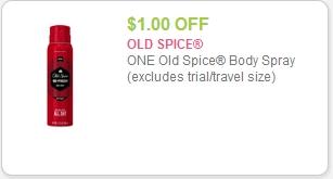 Old Spice Spray coupon