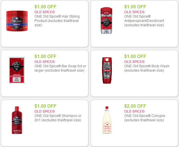 Coupons old spice canada