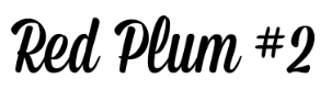 Red Plum #2