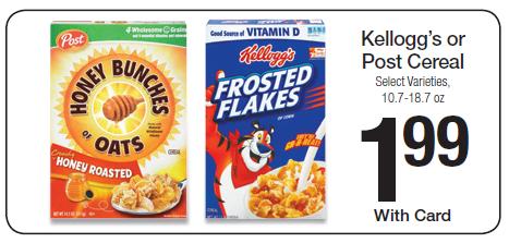 post cereal kroger ad