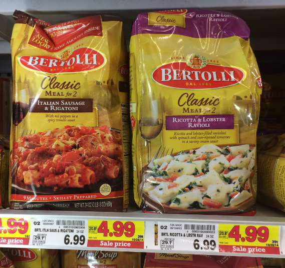 bertolli meal for 2 3 99 at kroger reg 6 99 kroger krazy