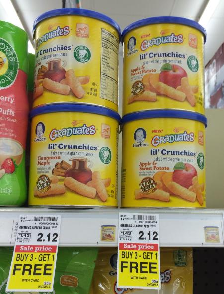 Gerber crunchies