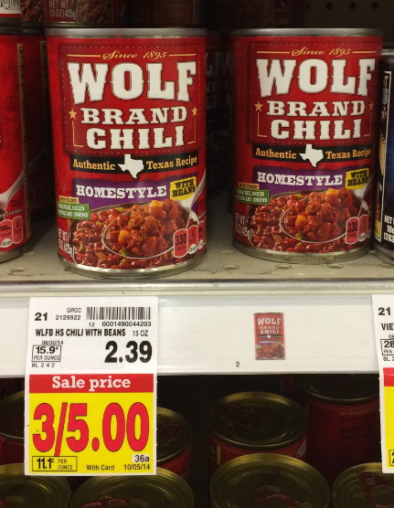 The mild chili tastes delicious in any recipe or menu item. Made with no preservatives and all-natural* beef and pork, WOLF BRAND canned chili con carne is an excellent source of iron per serving. Plus, it's easily prepared on the stovetop or in the microwave to save on time and labor/5(20).