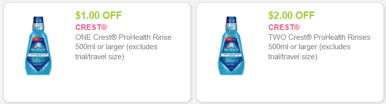 crest mouth rinse coupons