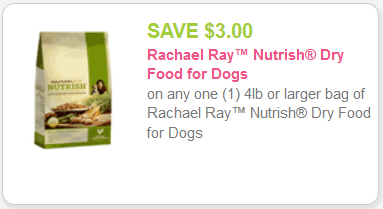 Save Money with Rachael Ray Dog Food Coupons One of the main benefits of this brand is its affordability. The brand states that it is their goal to provide pet store quality at grocery store prices, making their products accessible for pet owners on a budget.