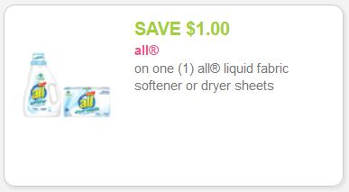 all fabric softener coupon