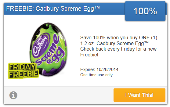 free cadbury egg