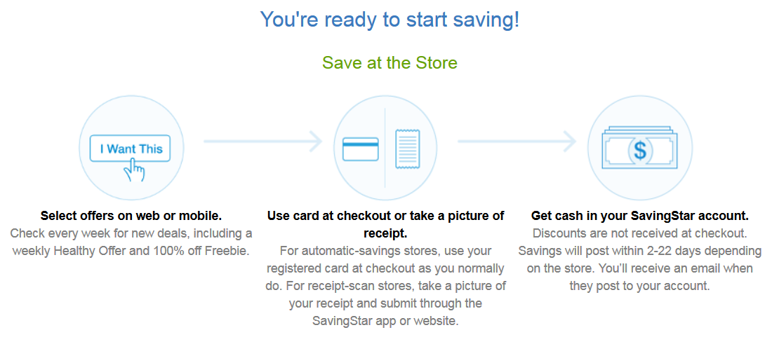 getting started savingstar