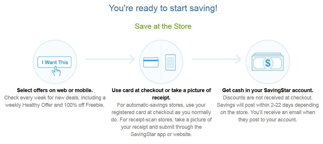 getting started savingstar