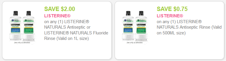 listerine coupons
