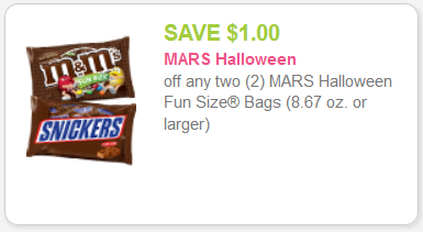 These Mars Chocolate minis are the perfect way to satisfy your sweet tooth without completely disregarding your diet. Right now, you can even save BIG with TWO awesome coupon options (learn how to use coupons today!)!