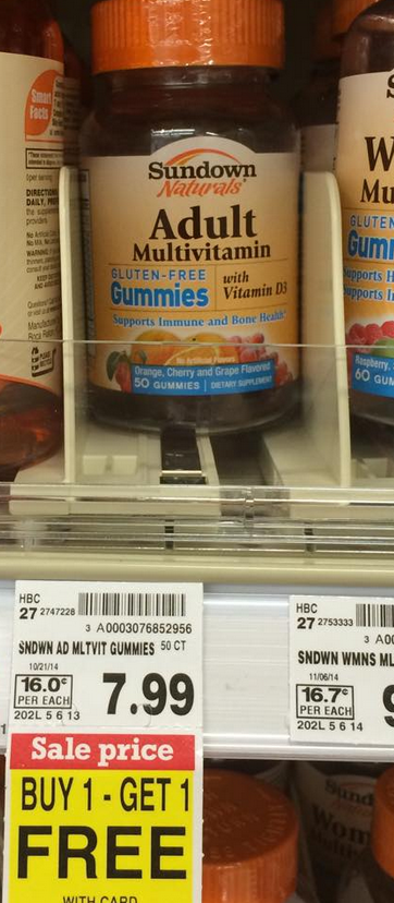 Sundown vitamins coupons