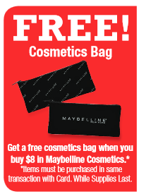 free cosmetic bag maybelline