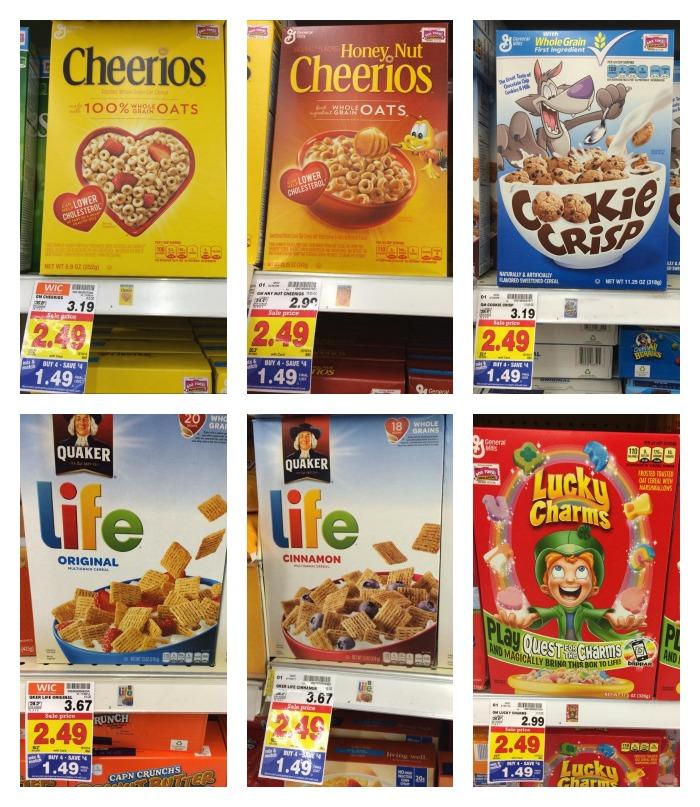 Kroger Mega Event Cereal Full Inclusion List!
