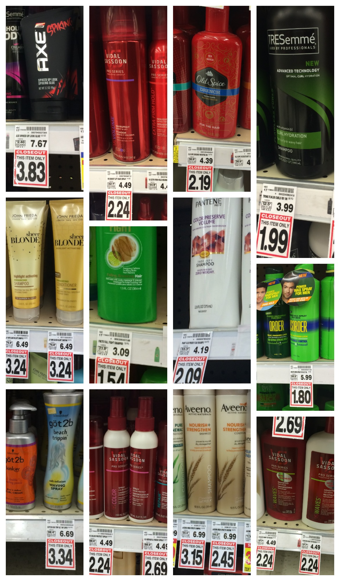 haircare closeouts