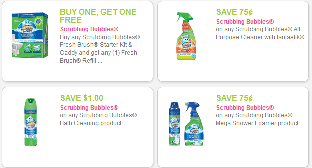 Printable coupon is for $ off 2 Scrubbing Bubbles Toilet Cleaning Gel. Ibotta Cash Back offer is $ for Scrubbing Bubbles® toilet products (expiring on Wednesday, 05/10/).
