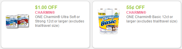 New Charmin Coupons As Low As 0 34 Per Double Roll With