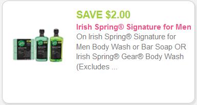 Irish Springs coupon