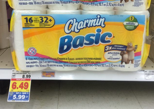 Charmin Bath Tissue = as low as $3.99 at Kroger ($0.33 per double ...