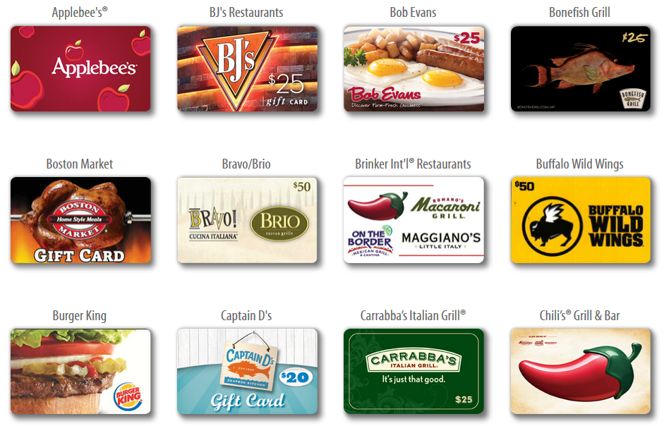 4x Fuel Points On Restaurant And Movie Gift Cards At Kroger