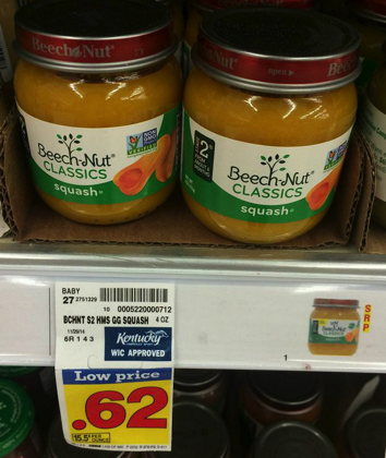 Beech Nut Baby Food Only 0 25 A Jar At Kroger