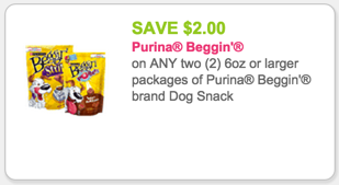 Beggin' Dog Snacks Coupon