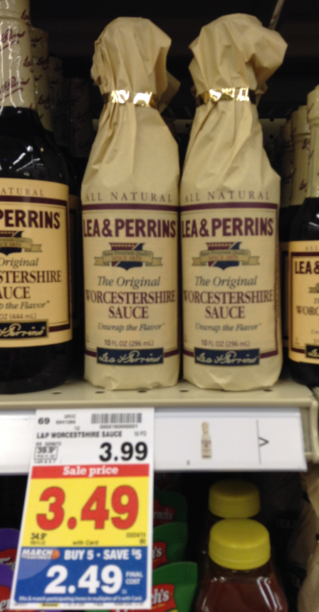 We Have A Nice Kroger Mega Sale Sale Price On This Lea Perrins Worcestershire Sauce But We Have A 1 Coupon That Will Make This Only 1 49