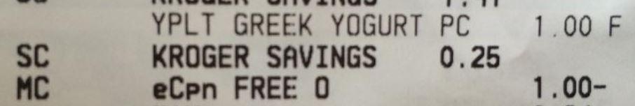 yoplait greek receipt