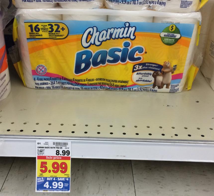 Charmin Bathroom Tissue charmin toilet tissue = as low as $3.99 with kroger mega sale