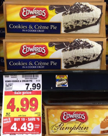 picture relating to Edwards Pies Printable Coupons called Clean Edwards Pie Coupon \u003d Simply just $3.49 at Kroger!! Kroger Krazy
