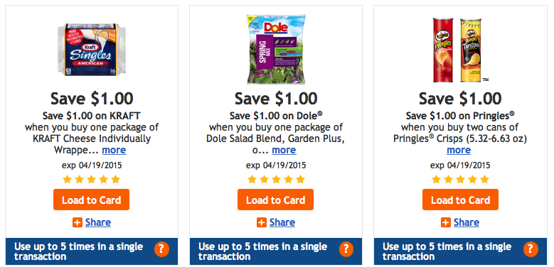 Limit 5 Kroger digital coupons