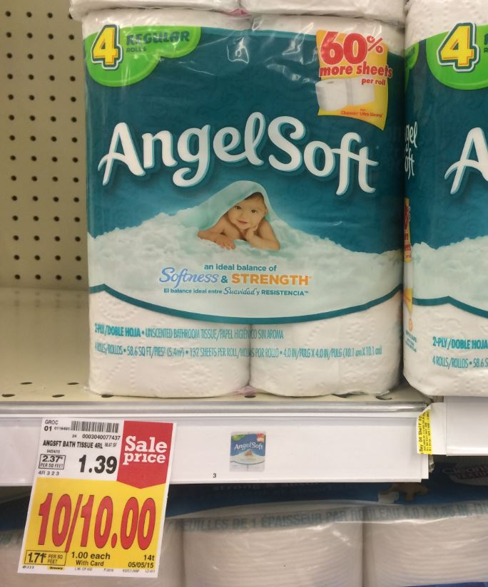 Angel Soft Toilet Paper As Low As 0 45 At Kroger