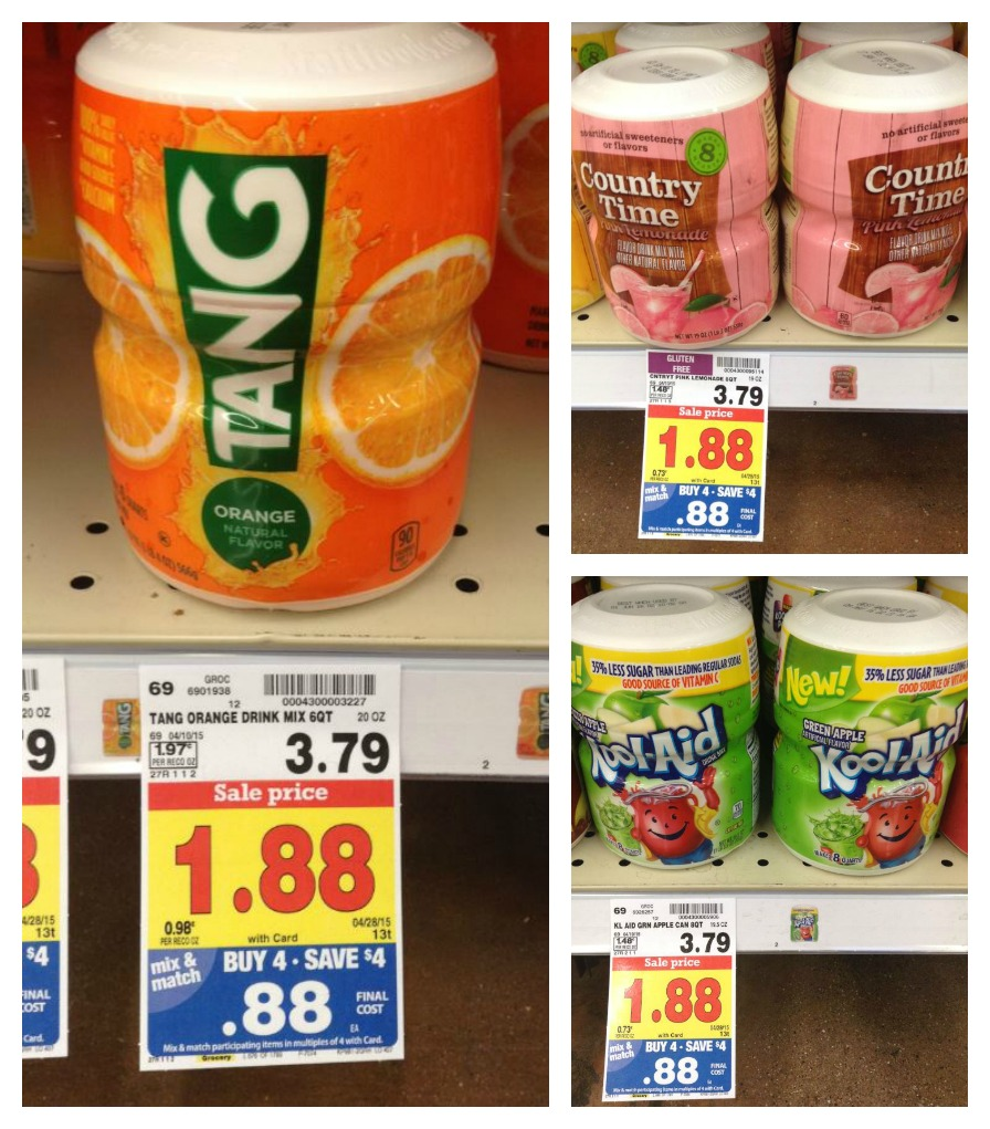 Grab A Sammie And A Kool Aid: Kool-Aid, Tang & Lemonade ONLY $0.38 With Kroger Mega Sale