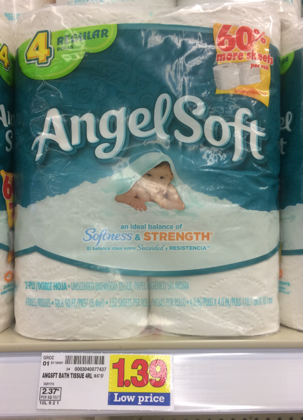 image about Angel Soft Printable Coupon referred to as Refreshing Angel Smooth Coupon + Kroger Package (Print Help you save