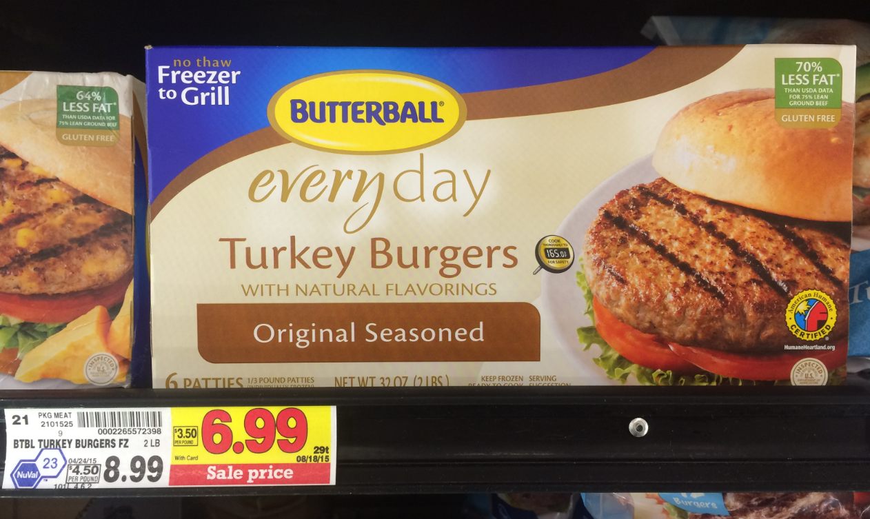 Turkey Burgers & Meatballs. For some of your favorite meals with less fat, try Butterball®'s turkey burgers and meatballs. They're even great for a healthy and convenient snack!